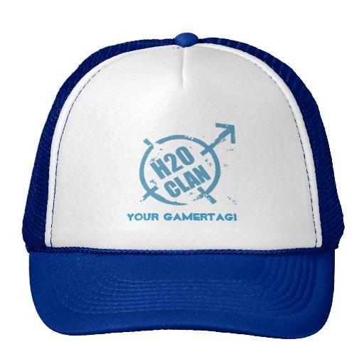 H20 Hat- Blue logo Trucker Hat