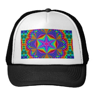 H2 Brilliant Colored Ribbon Kaleidoscopic Design Trucker Hat