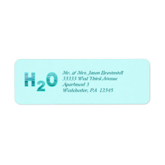 H2O Address Labels