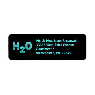 H2O Address Labels