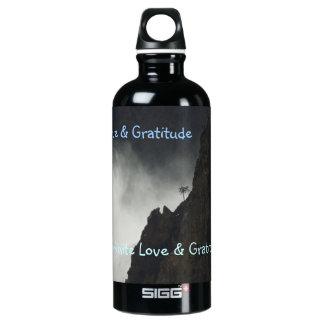 H2o Bottle- Love & Gratitude Aluminum Water Bottle