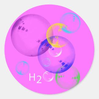 H2O CLASSIC ROUND STICKER