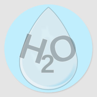 H2O Drop Stickers