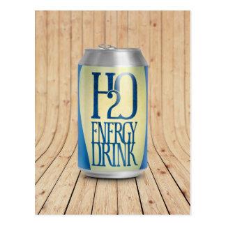 h2o energy drink postcard