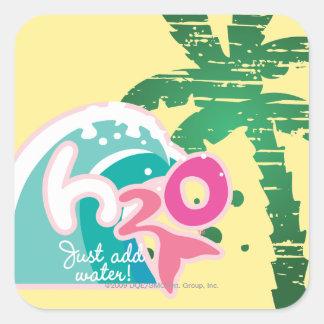 H2O Logo Square Sticker