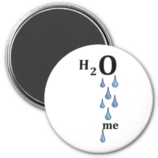 H2O me 3 Inch Round Magnet