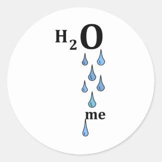 H2O me Classic Round Sticker