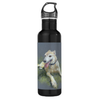 H2O me water bottle-save a greyhound Stainless Steel Water Bottle