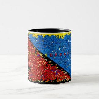 h2o over fire Two-Tone coffee mug