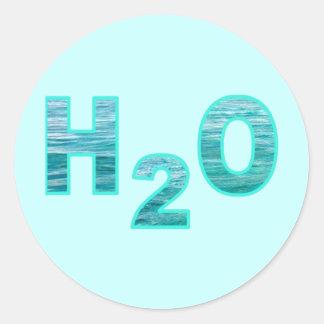 H2O PEGATINA REDONDA