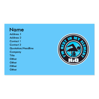 H2O_SWIMMER BUSINESS CARD TEMPLATE