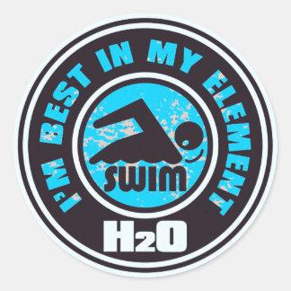 H2O_SWIMMER ETIQUETA REDONDA