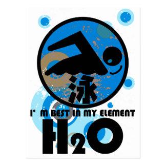 H2O_SWIMMER POSTCARD