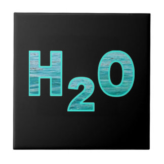 H2O water Black Tile