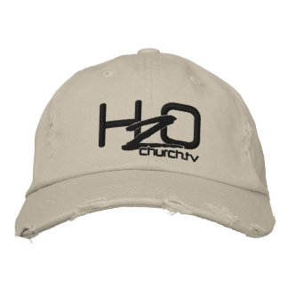 H2OChurch.tv - Distressed Denim Embroidered Hat