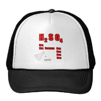 ¡H2SO4 caliente, caliente, quemadura! ¡Ow! ¡Ow! ¡O Gorras De Camionero