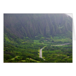 H3 freeway from the Pali Lookout Card