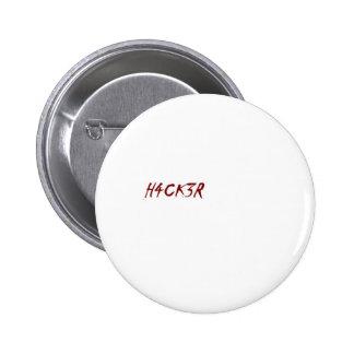 h4ck3r hacker techie geek pinback button
