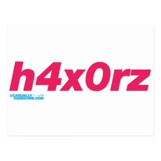 h4x0rz postcard