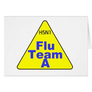 H5N1 Flu Team A Triangle Greeting Card