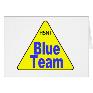 H5N1 Flu Team Blue Greeting Card