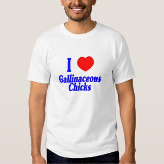 H5N1 I Love Gallinaceous Chicks T Shirts