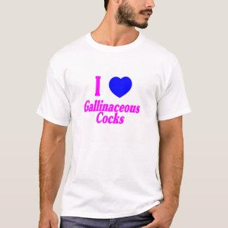 H5N1 I Love Gallinaceous Cocks T-Shirt