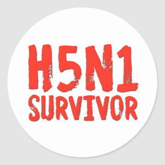 H5N1 SURVIVOR Bird Flu Classic Round Sticker