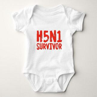H5N1 SURVIVOR Bird Flu Tee Shirts