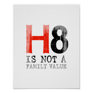 H8 is not a family value Faded.png Print