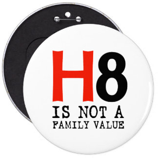 H8 is not a family value pinback button