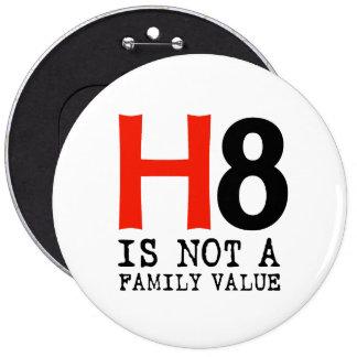 H8 no es un valor familiar pin redondo de 6 pulgadas