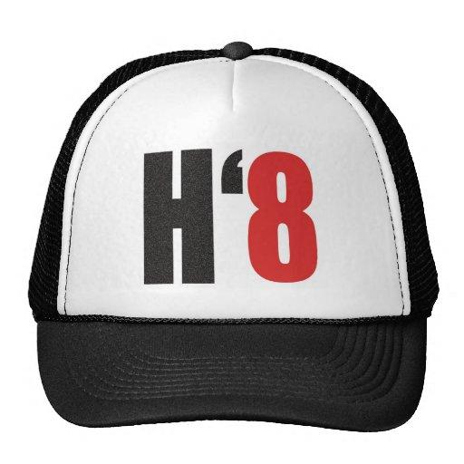 H8TE - Vote no en el apoyo 8 Gorros Bordados