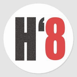 H8TE - Vote No on Prop 8 Classic Round Sticker
