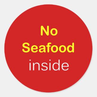 h9 - Food Label ~ NO SEAFOOD INSIDE.