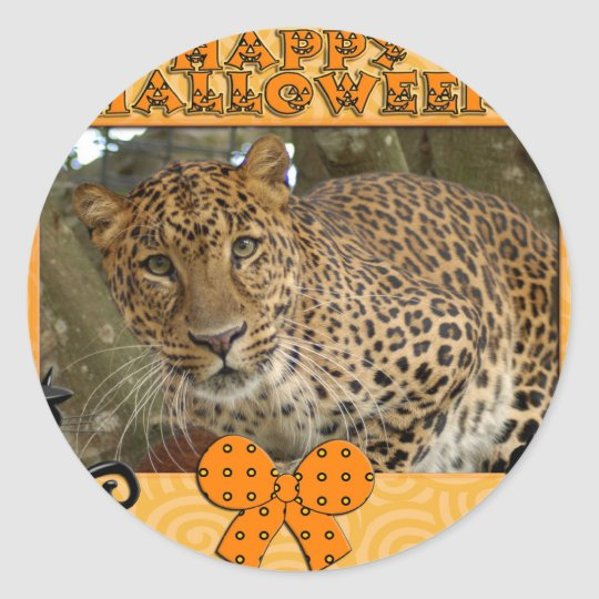 h-114-leopard-cheetaro classic round sticker