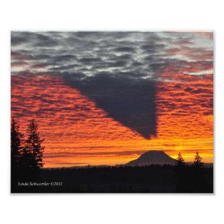 h #8 el Monte Rainier y su sombra Foto