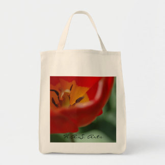 H A S Arts Tulip Grocery Bag