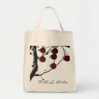 H.A.S. Arts Winter Red Berries Canvas Bag