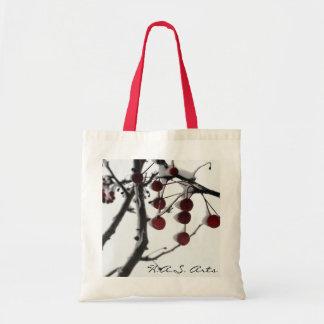 H.A.S. Bayas del rojo del invierno de los artes Bolsas De Mano