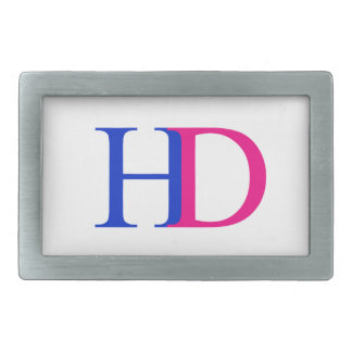 H and D graphic Belt Buckle