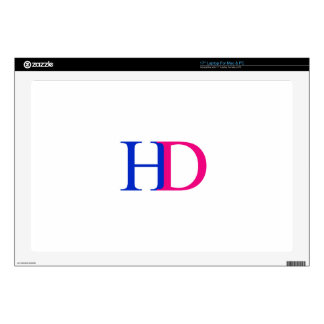 """H and D graphic Decals For 17"""" Laptops"""