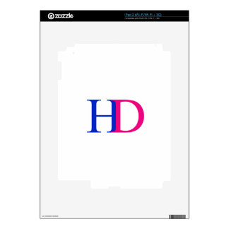 H and D graphic Decals For iPad 2