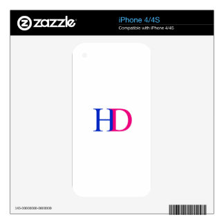 H and D graphic Decals For The iPhone 4S