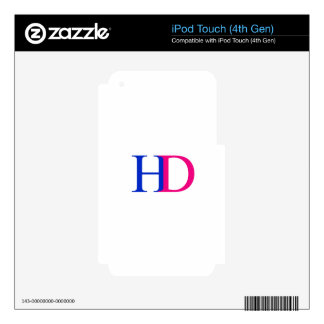 H and D graphic iPod Touch 4G Skin
