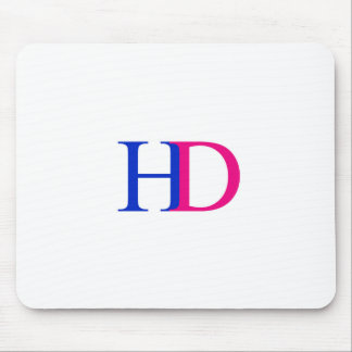 H and D graphic Mouse Pad