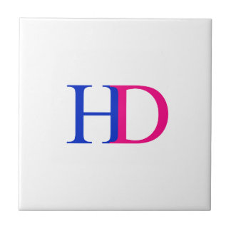 H and D graphic Tile