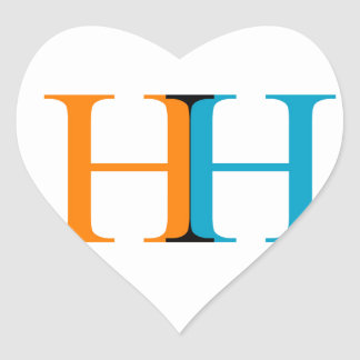 H and H graphic Heart Sticker