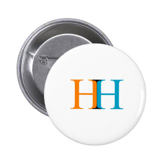 H and H graphic Pinback Button