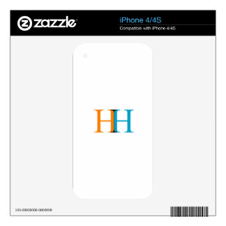 H and H graphic Skin For The iPhone 4